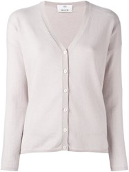 Allude Buttoned Cardigan Pink And Purple