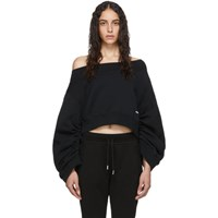 Dsquared2 Black Ruched Sleeve Sweatshirt