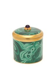 L'objet Malachite Scented Candle Green Multi