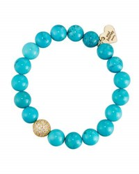 Soul Journey Turquoise Beaded Stretch Bracelet