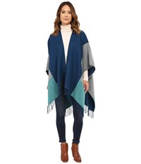 Echo Color Block Reversible Ruana Deep Blue Sea Women's Sweater