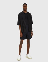 Christophe Lemaire Elasticated Shorts In Blue Black