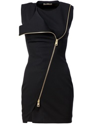 Bouchra Jarrar Fitted Zip Dress Black