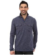 Stetson Bamboo Look Knit Pullover Blue Men's Clothing