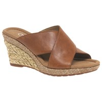 Gabor Purpose Wide Slip On Wedge Heeled Sandals Peanut
