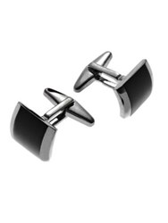 Kenneth Cole Reaction Square Cuff Links Silver