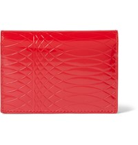 Paul Smith Embossed Patent Leather Cardholder Red
