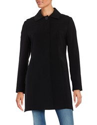 Gallery Plus A Line Swing Coat Black