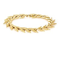 Cathy Waterman Yellow Gold Wheat Link Bracelet