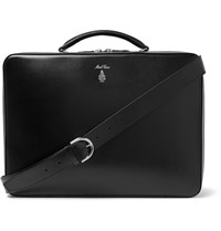 Mark Cross Baker Brief Full Grain Leather Briefcase Black