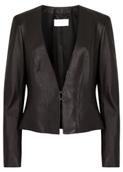 Hugo Boss Sakyra Black Leather Jacket