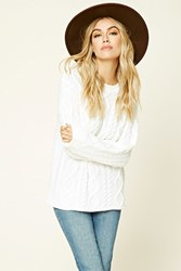 Forever 21 Cable Knit Sweater Top