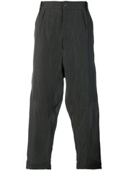 Lost And Found Ria Dunn Drop Crotch Cropped Pants Silk Cotton Black