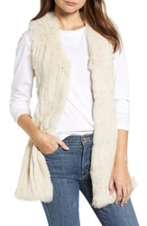 Love Token Genuine Rabbit Fur And Knit Vest Champagne