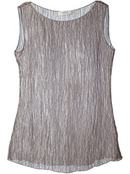 Romeo Gigli Vintage Sheer Tank Top Grey