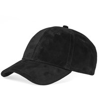 Rag And Bone Lenox Suede Baseball Cap Black
