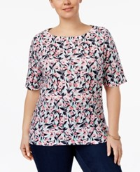 Charter Club Plus Size Pima Cotton Top Only At Macy's Aqua Gloss
