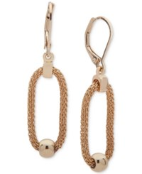Anne Klein Gold Tone Bead And Link Drop Earrings
