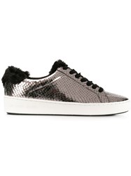 Michael Michael Kors Snakeskin Effect Low Top Sneakers Metallic