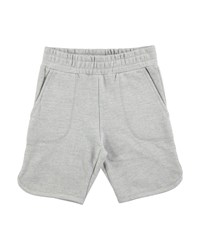 Molo Alberto Grey Melange Cotton Blend Shorts Gray