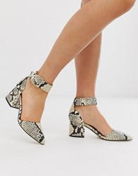 Call It Spring By Aldo Agraleria Ankle Strap Heeled Pumps In Snake Print Multi