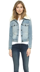 Mcguire Denim Sherpa Collar Bungalow Jacket Verbier