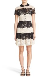 Red Valentino Women's Macrame Lace Fit And Flare Dress