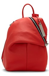 Vince Camuto Small Giani Leather Backpack Red Fire