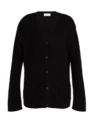 Raey Open Knit Summer Cashmere Cardigan Black