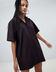 The Ragged Priest X Betsy Johnson Shirt Dress With Embroidery Red