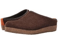 Haflinger Kris Chocolate Clog Shoes Brown