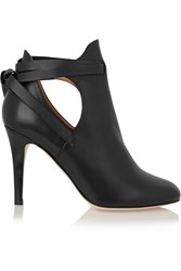 Jimmy Choo Marina Cutout Leather Ankle Boots