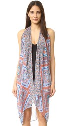 Red Carter Laurel Canyon Cover Up Blossom Multi