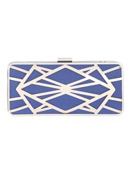 Jane Norman Electric Blue Box Metal Cut Out Bag
