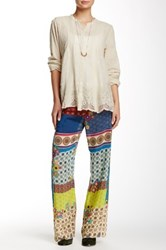 Johnny Was Drawstring Print Pant Multi