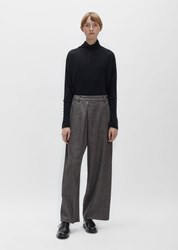 Pas De Calais Wool Tweed Pant Brown