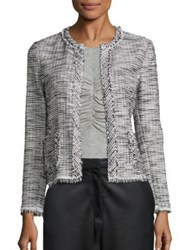Rebecca Taylor Boucle Tweed Jacket Black Chalk