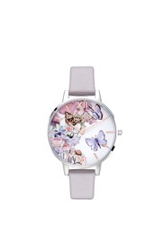 Olivia Burton 'Painterly Prints' Butterfly Print 38Mm Watch Multi Colour Purple