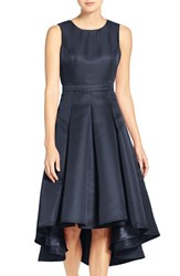 Lulus Women's Lulu's Cutout Back Tea Length High Low Dress Navy