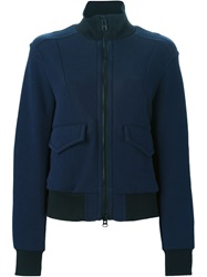 Sacai Luck Ribbed High Neck Sport Jacket Blue