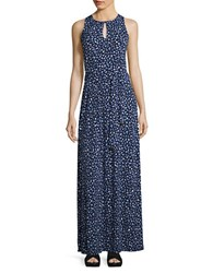 Michael Michael Kors Floral Maxi Keyhole Dress Cloud
