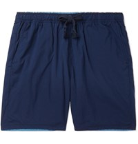 Remi Relief Reversible Shell Drawstring Shorts Blue