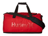 Hurley Renegade Duffel Gym Red Black Duffel Bags
