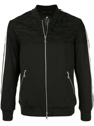 Loveless Mesh Panel Bomber Black