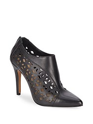 Saks Fifth Avenue Catherine Perforated Leather Booties Black