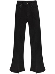 Y Project Trumpet High Waist Bootcut Jeans Black