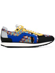 Pierre Hardy Cube Runner Sneakers Men Calf Leather Leather Nylon Rubber 43