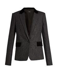 Joseph Prisca Prince Of Wales Checked Wool Blazer Dark Grey