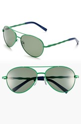 Women's Lilly Pulitzer 'Amelia' 57Mm Polarized Aviator Sunglasses Palm Green Worth Blue