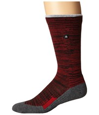 Richer Poorer Layback Athletic White Red Men's Crew Cut Socks Shoes
